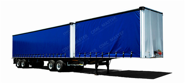 2 axles side curtain van trailer