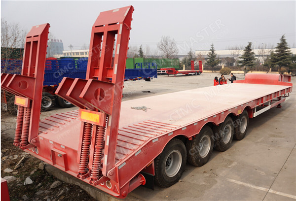 4 axles 100ton heavy semi trailer