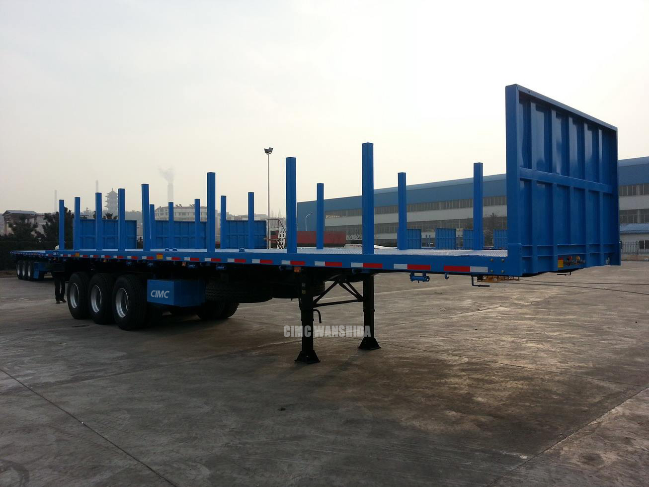 log loading trailer