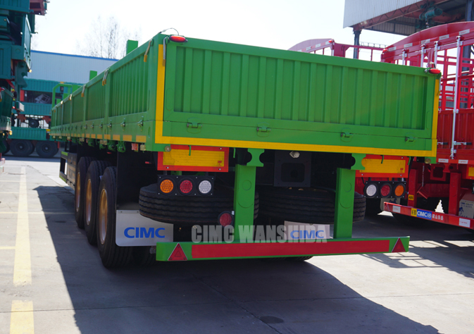 40ft container flatbed trailer with side panel