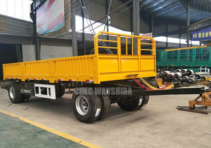 CIMC draw bar trailer with side wall for sale