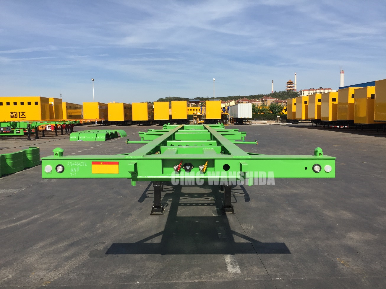 3 axles 40' container chassis for sale