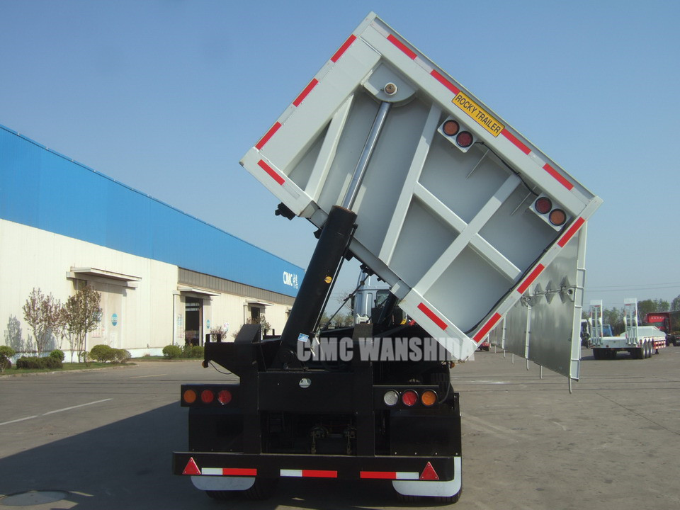 40 cubic meter side dump semi trailer