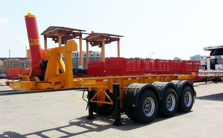 Tipping chassis semi traile