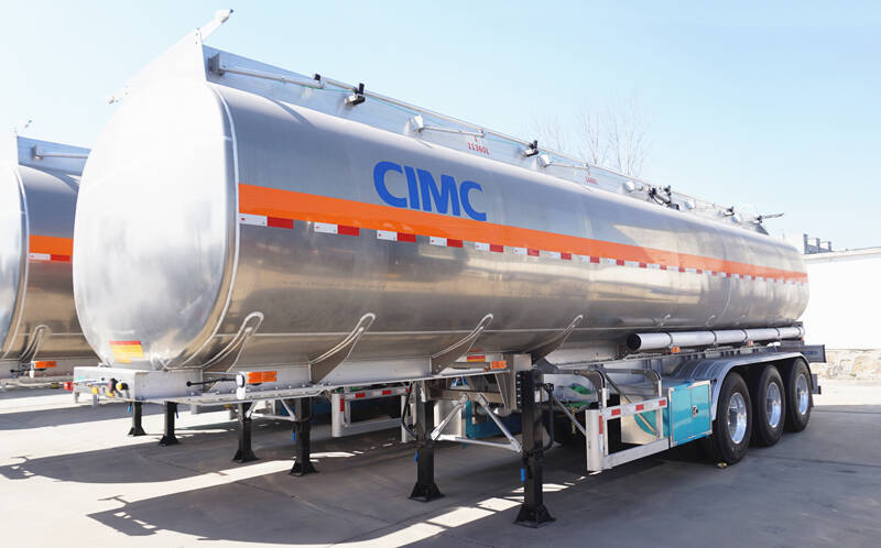 CIMC 3 axle aluminum fuel tanker trailer for sale