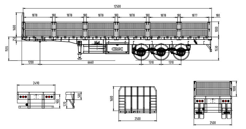 3 axle 60 ton drop side trailer drawing (1)