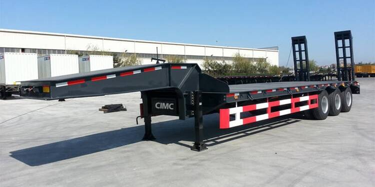 80Ton Lowbed Semi Trailer Price