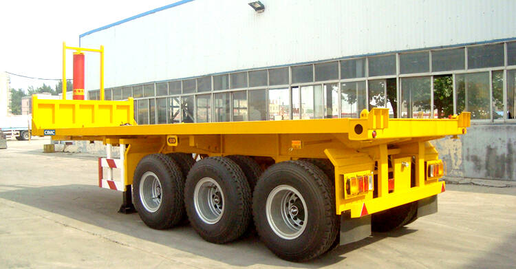 3 axles container tipper chassis