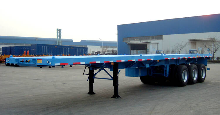 3 axle flatbed container semi trailer