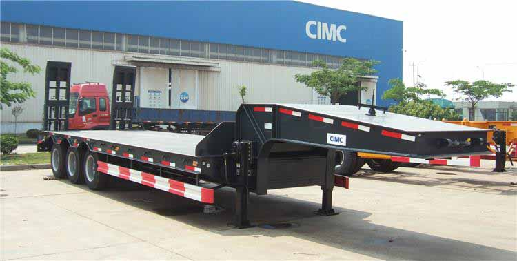 CIMC Semi Low Bed Trailer 60T Loading Capacity