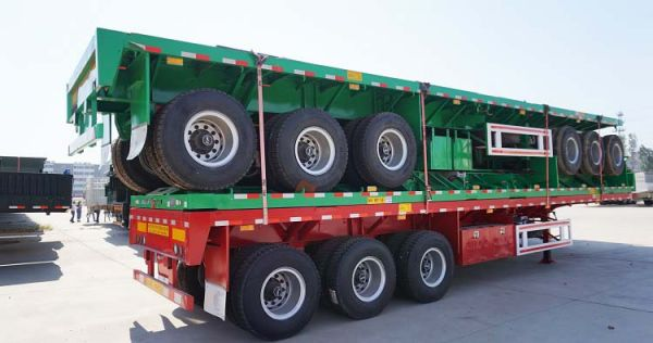CIMC 40ft Container Flatbed Trailer for Jamaica