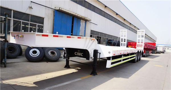 3 Axle 80/90 Tons Low Bed Loader Trailer for Sale in Zambia