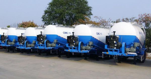 5 Units 35cbm Bulk Cement Tanker Trailer for Nigeria