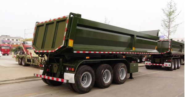 CIMC New & Used 3 Axle 60/80 Tons Dump Tipper Semi Trailer for Guinea
