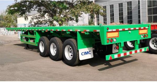 CIMC Triaxle Flat Bed Trailer for Sale in Nigeria
