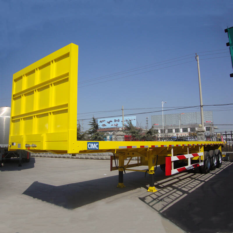 Tri axle Platform Semi Trailer