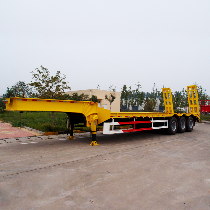 Excavator low bed trailer