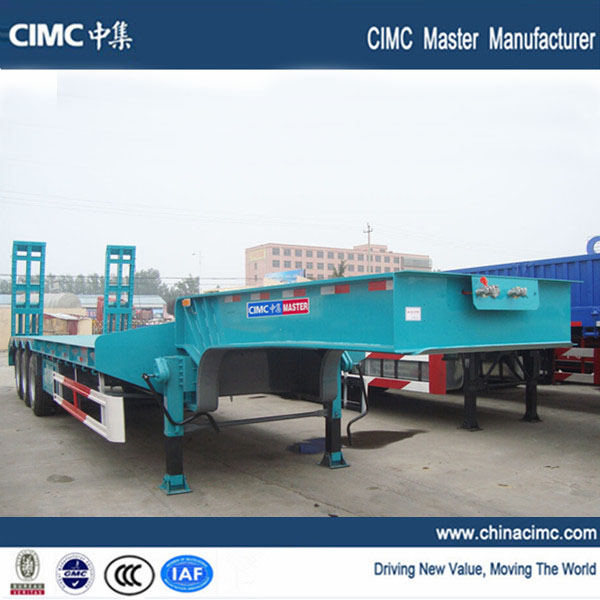 3 axles low loader trailer