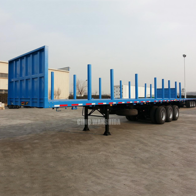 Log Loading Flat Bed Trailer