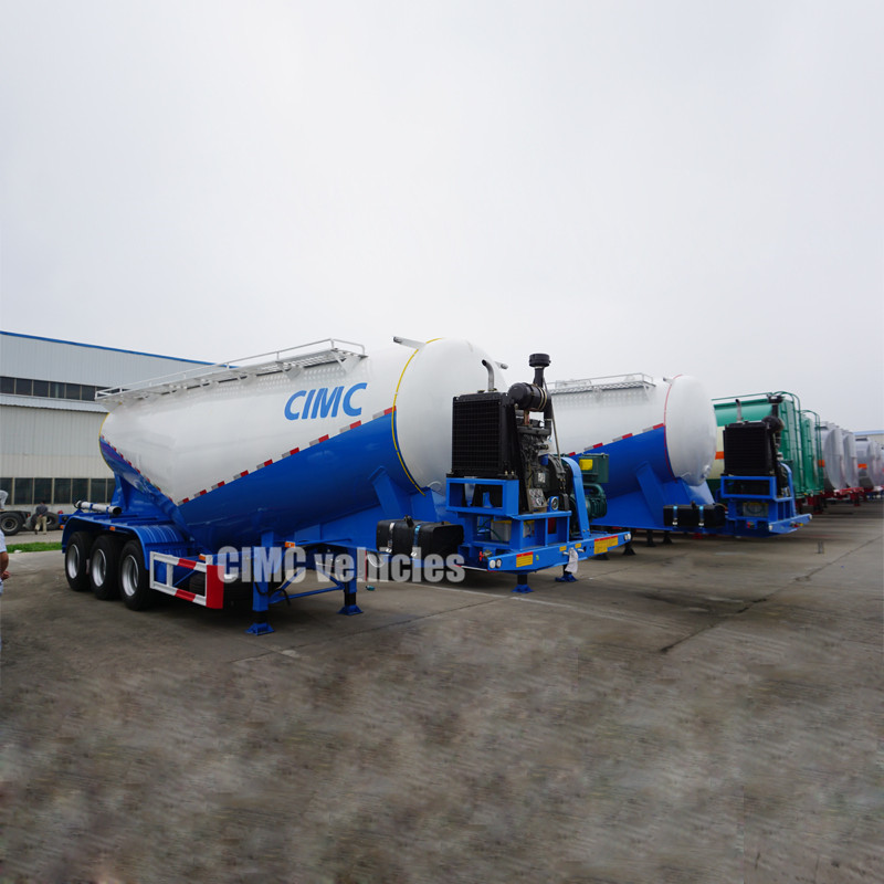 50 m3 bulk lime powder tanker semi trailer