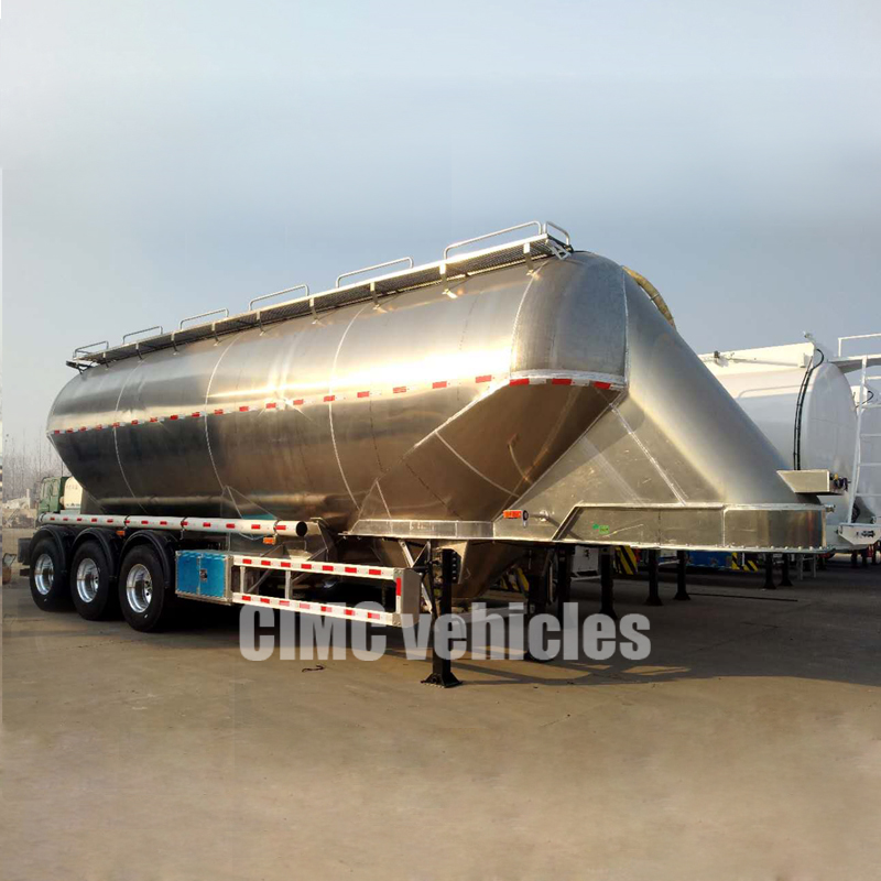 Wheat Flour Dry Bulk Transport Tank Semi Trailer