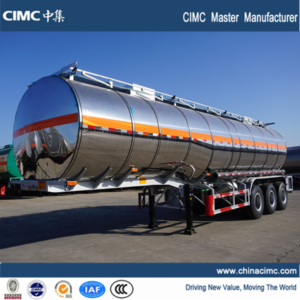 CIMC tri-axle 40000 liters palm oil tanker trailer