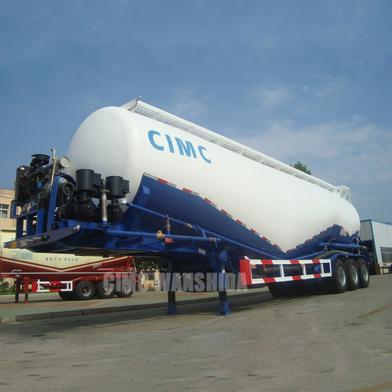CIMC 72~75 ton double compartments cement bulkers