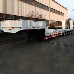 CIMC 100 tons low flatbed trailer