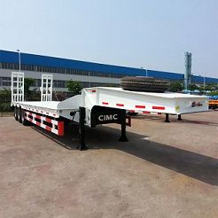 Low flat bed trailer 60 tons
