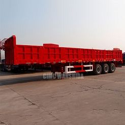 Flatbed trailer with sidewalls 60 tons