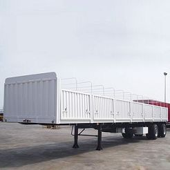CIMC tri-axle dropside flatbed trailer