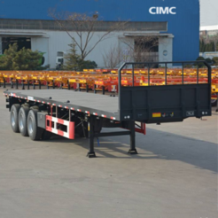 Flatbed trailer with removable sides