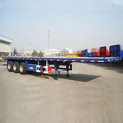flatbed tri axle trailer